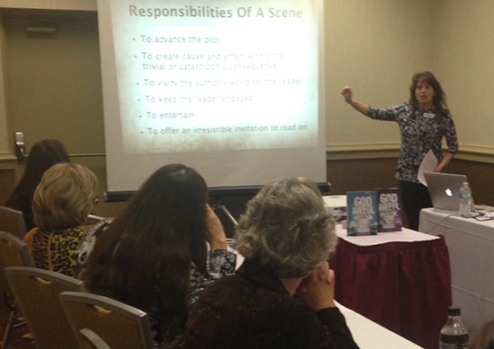 Silvia Presents on writing compelling scenes for the Wisconsin Writers Association